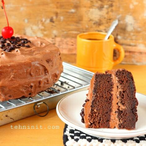 Resep devil food cake gampang praktis enak