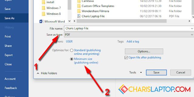 Cara Mengecilkan PDF dengan Microsoft Word