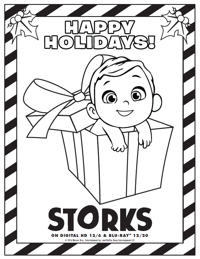 stork with baby coloring pages - photo#34