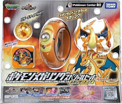 Takara Tomy Pokemon Mega Ring Special Set  Mega Charizard Y