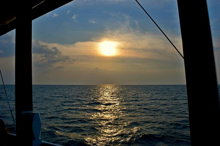 sail boat sunset thailand