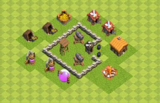 Base COC TH2 Farming 2