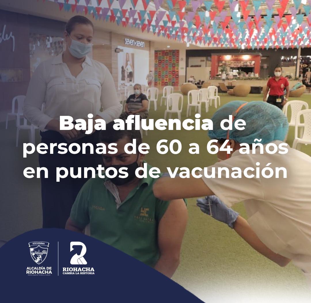 hoyennoticia.com, Vacuna AstraZeneca es rechazada por riohacheros de 60 a 64 años de edad