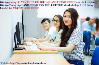 Trung cap hanh chinh van thu