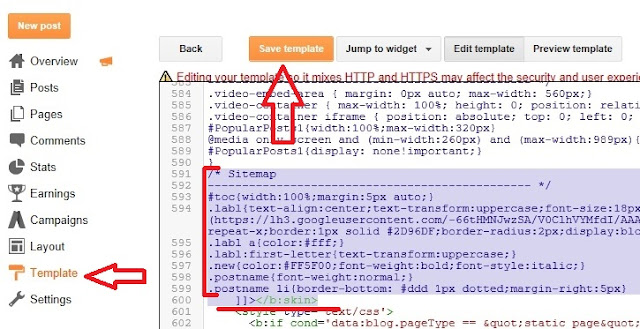 Add HTML Sitemap Page In Blogger-6