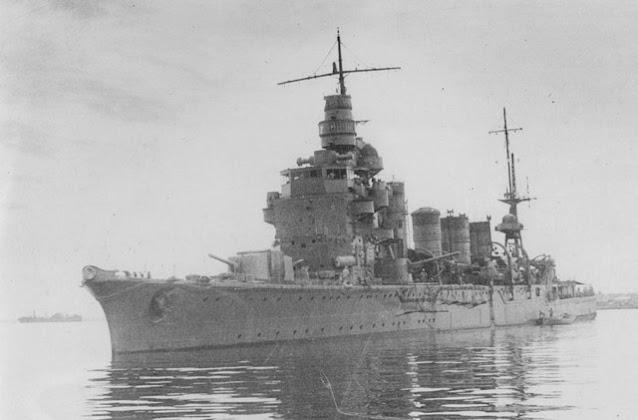 Japanese light cruiser Naka on 22 April 1942 worldwartwo.filminspector.com