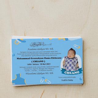Desain Label Ucapan Kelahiran Anak
