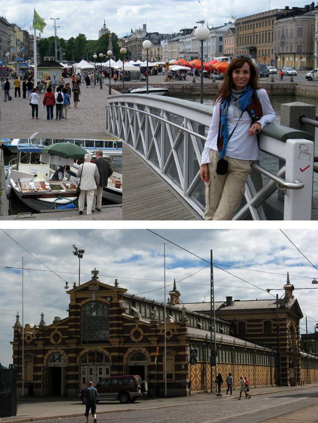 Plaza del Mercado y 'puestos-barco' (arriba), y Antiguo Mercado (abajo)