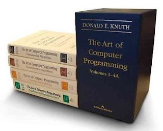 The four volumes of Donald Knuth's work