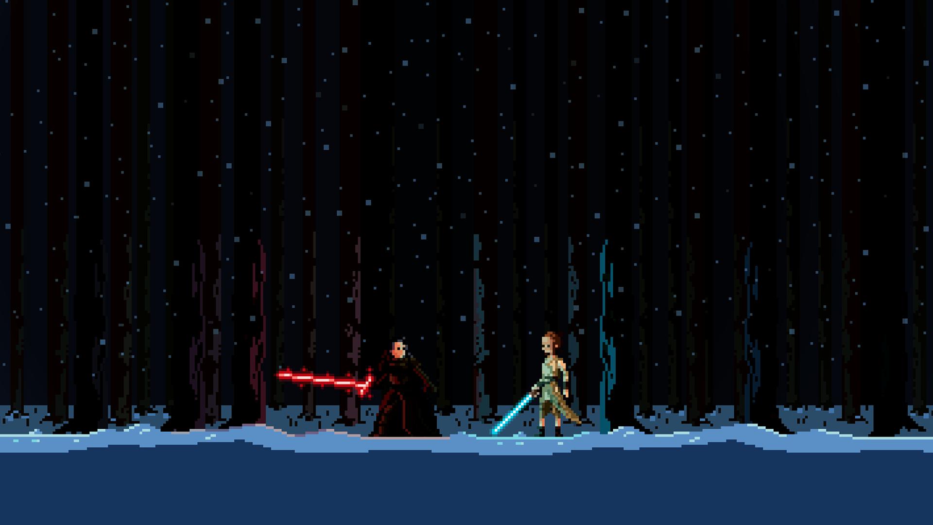 Wallpaper Desktop Star Wars Pixel Art