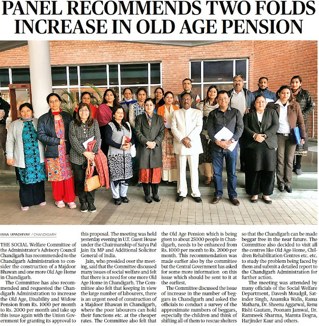 Panel recommends two folds increase in old age pension