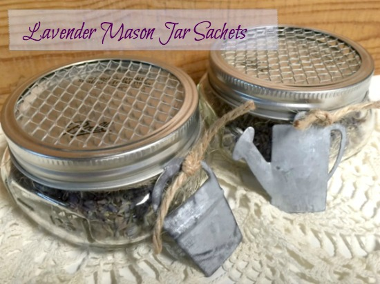 How to make lavender sachets in Mason Jars www.homeroad.net