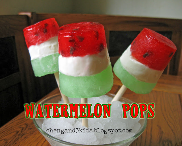 Watermelon Pops by Cheng and 3 Kids