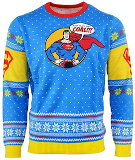 Click here to purchase Superman Says Bad Guys Get Coal Sweater at Amazon!
