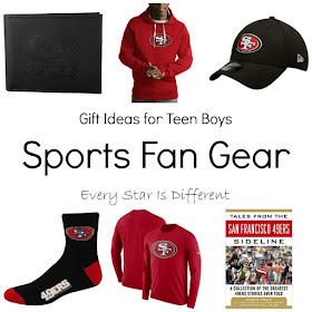 Sports Fan Gear-Gift Ideas for Teen Boys
