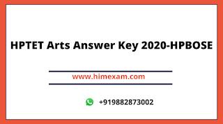 HPTET Arts Answer Key 2020-HPBOSE