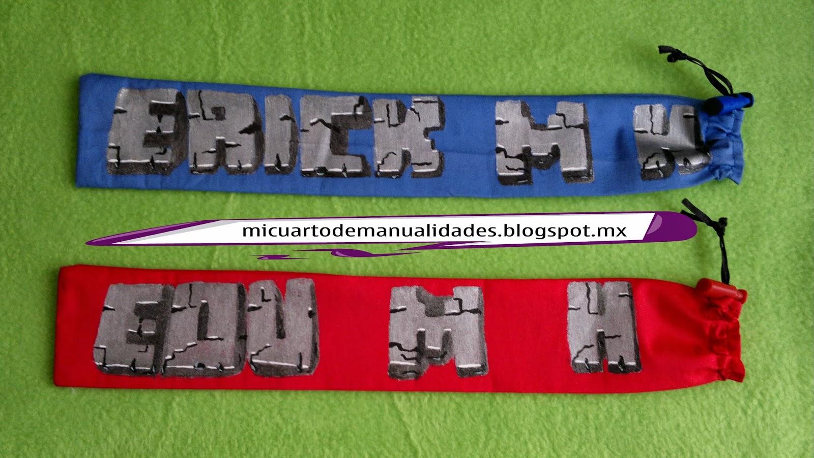 Mi cuarto de manualidades esther funda para flauta for Cuartos decorados minecraft