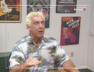 WCW Greed 2001 - Ric Flair acted like he was on all the cocaine in the world at this show