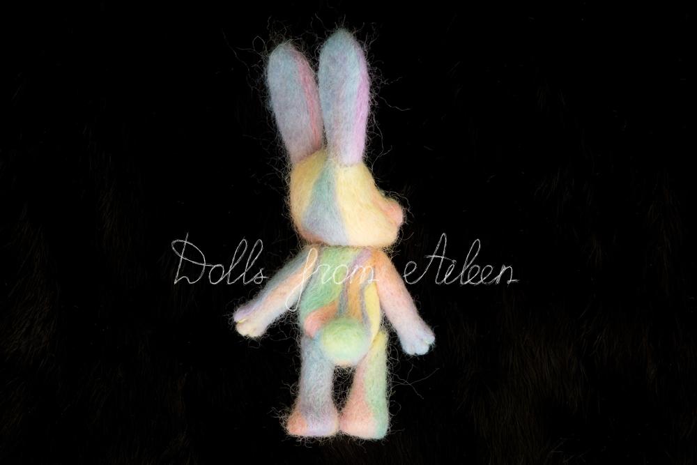 ooak needle felted Easter bunny's back