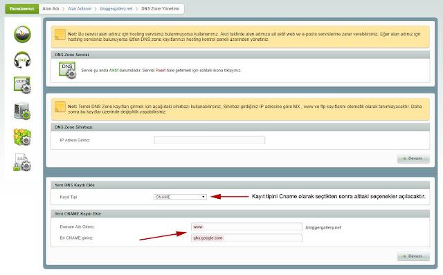 bloggerda domain nasıl kullanılır