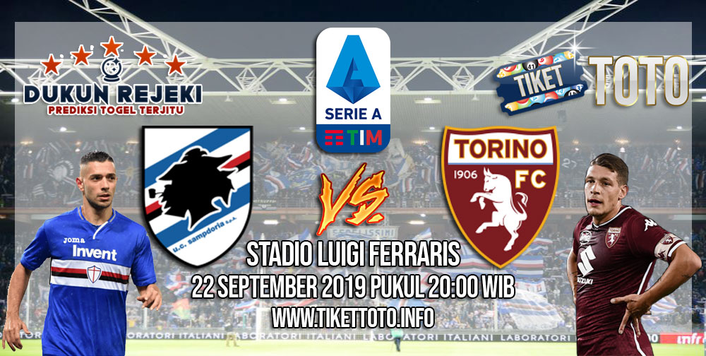 Prediksi Sampdoria VS Torino 22 September 2019