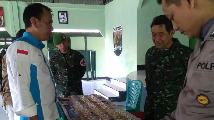 Antisipasi Peredaran Narkoba, BNK Sinjai Tes Urine Anggota TNI Kodim 1424