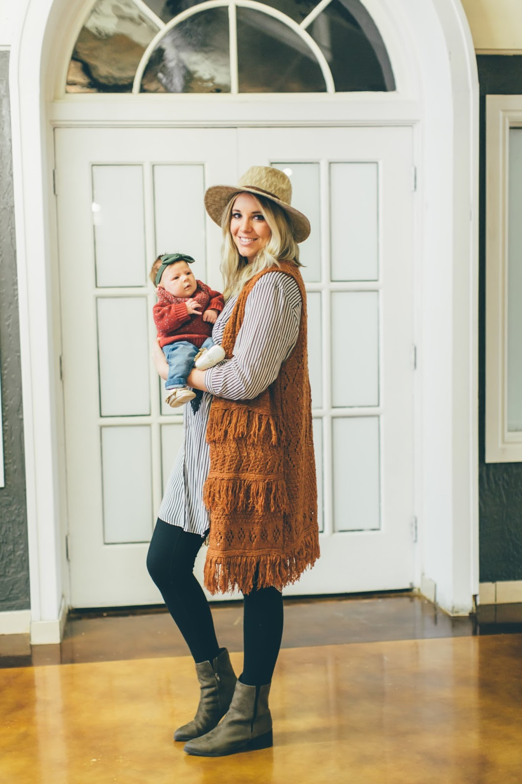 Fringe Vest, Striped Tunic, Mommy & Me Style
