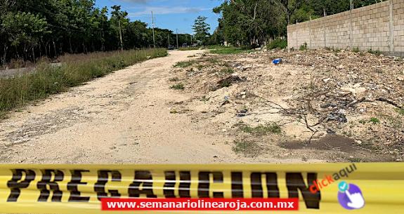 Encuentran hombre ejecutado en el camino que va  la cárcel de Playa del Carmen