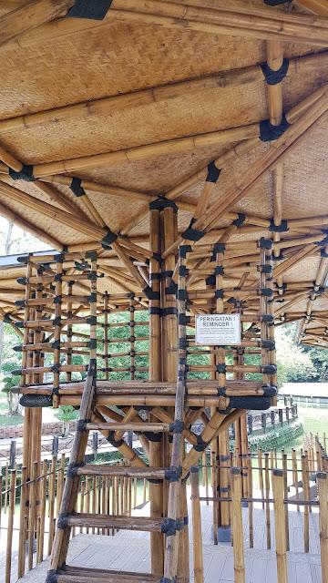 kuala lumpur botanical gardens, malaysia, malaysia bamboo playhouse, travel, trees,