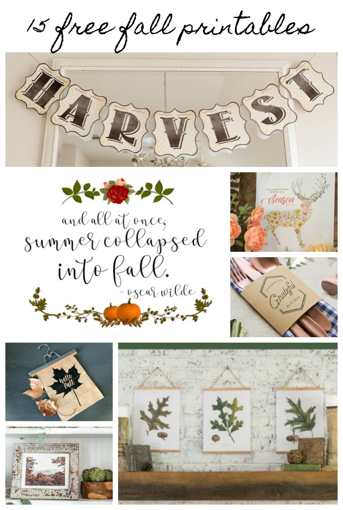 Free fall printables for seasonal decor