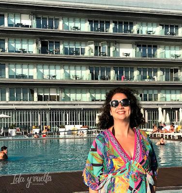 Zona de piscinas Parador de Cádiz
