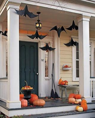 Decoración de halloween casa exterior