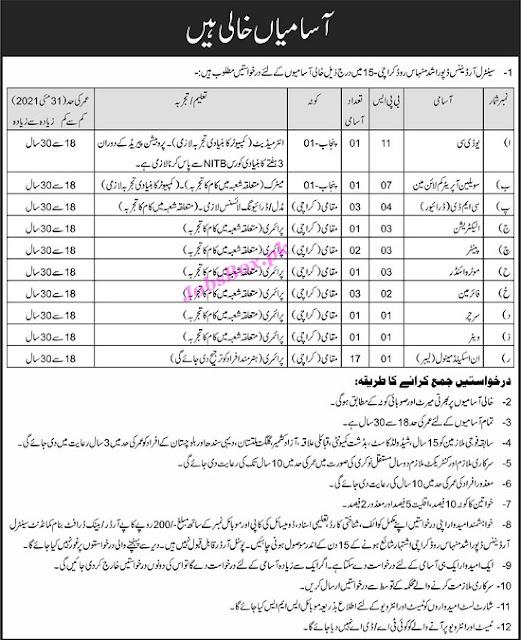 pakistan-army-civilian-jobs-in-central-ordnance-depot-karachi-2021