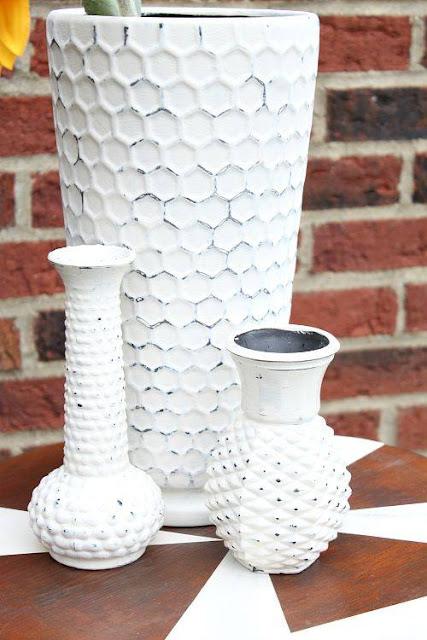 trash to treasure painted vases