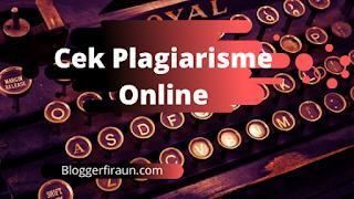 Plagiarisme dapat dicek menggunakan tools yang ada dalam artikel ini