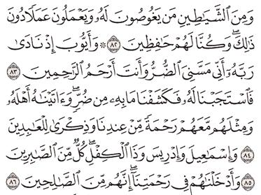 Tafsir Surat Al-Anbiya' Ayat 82, 83, 84, 85