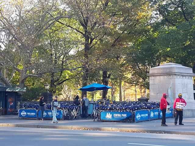 aluguel de bicicletas no Central Park
