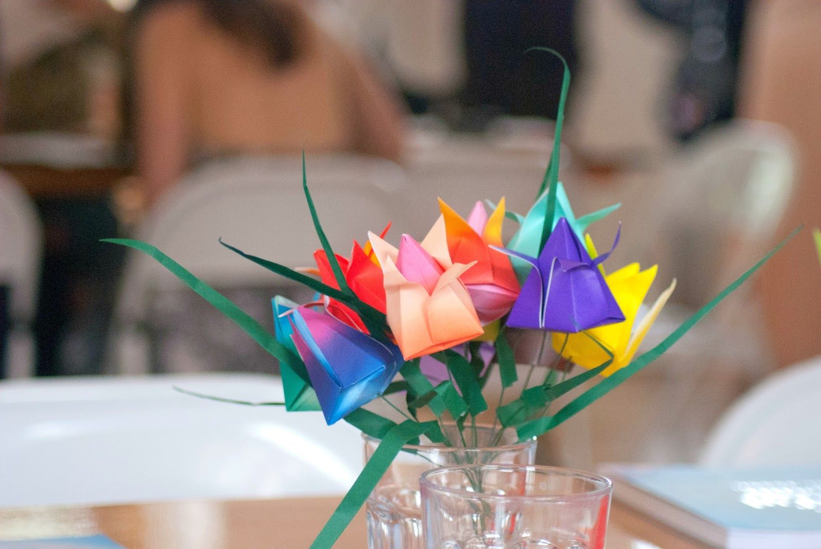 viking arty party lumiere london - 100 Ways to 30, colourful origami, mindful origami, origami bouquet, crafts, art, blogging, event