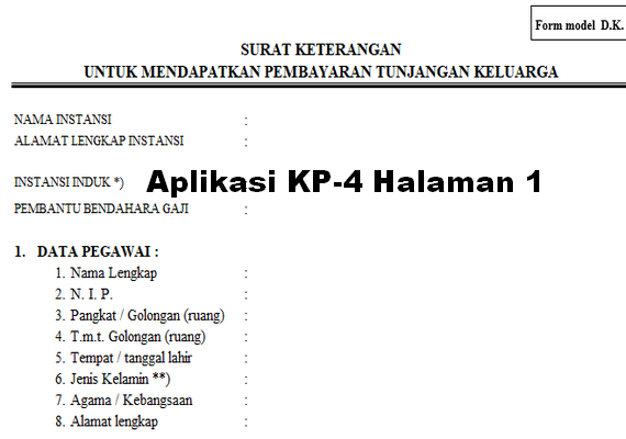 Aplikasi Cetak Usulan Tunjangan PNS Terbaru 2019
