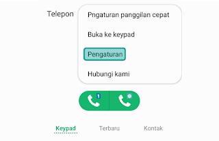 Cara private number Telkomsel di HP Samsung