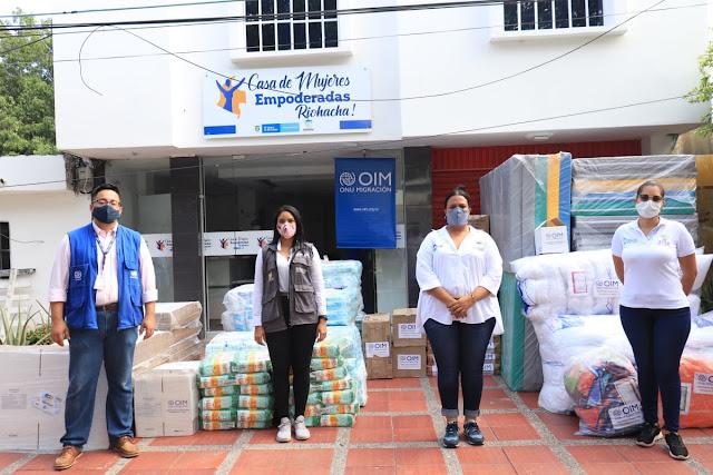 hoyennoticia.com, En Riohacha OIM donó kit humanitarios para población vulnerables