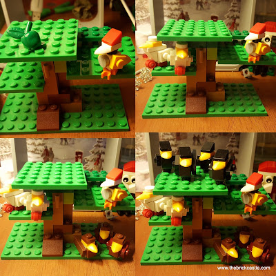LEGO 2 Turtle Doves 3 French Hens 4 Calling Birds Partridge