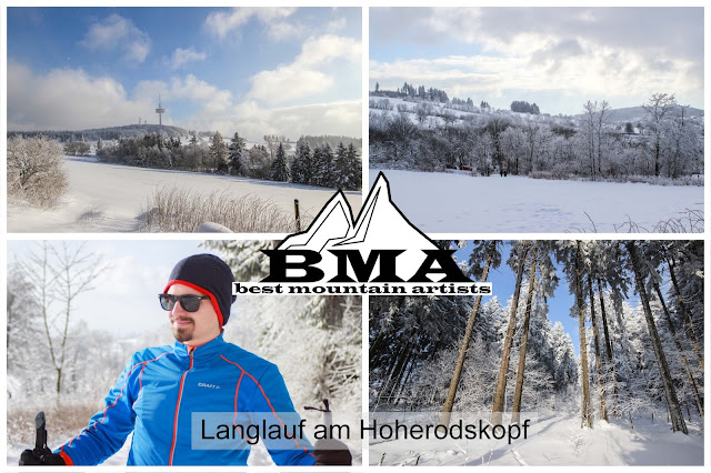 Langlauf Skifahren schnee Hoherodskopf Vogelsberg Hessen Best Mountain Artists