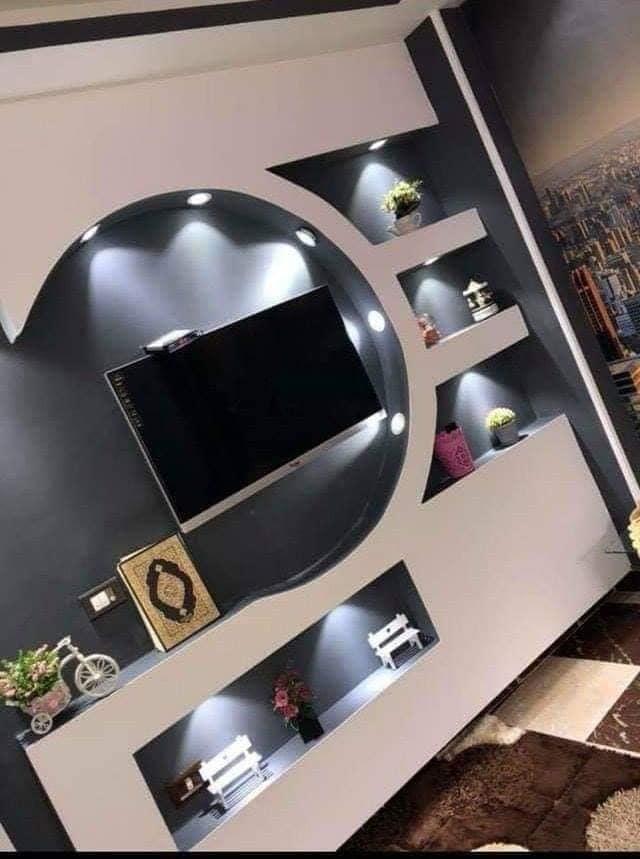 ديكورات بلازما و ديكورات جبس للتلفزيون 2019-2020