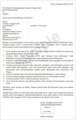 Surat Lamaran Cpns 2020 Informasi Cpns Asn Indonesiacpns Indonesia 2020