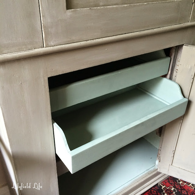 painted vintage linen press by Lilyfield Life