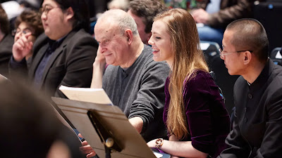 Colin Matthews with composers from a previous LSO Panufnik Composers Scheme