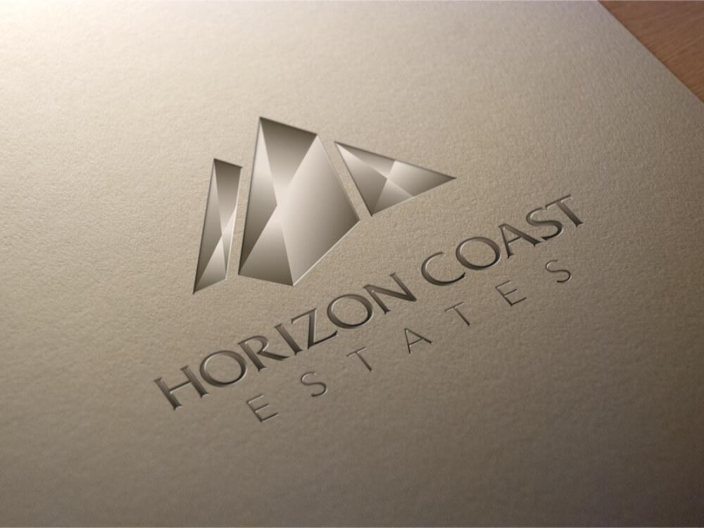 Logo Embossed Paper Design Horizon Coast Estates
