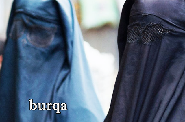 beza purdah niqab dan burqa