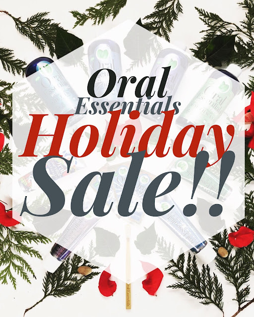 Oral Essentials Holiday Sale, fluoride-free toothpaste